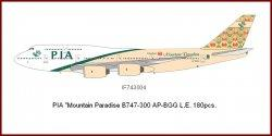 1:200 Inflight200 PIA - Pakistan International Airlines Boeing B 747-300 AP-BGG