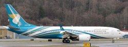 1:200 JC Wings Oman Air Boeing B 737-8MAX A4O-MA