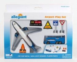1:400 Realtoy Allegiant Air Airbus Industries A319 Playset