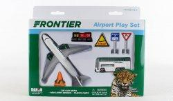 1:400 Realtoy Frontier Airlines Airbus Industries A319 Playset