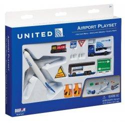 1:400 Realtoy United Airlines Boeing B 777 Playset