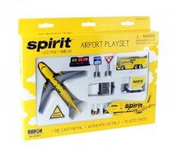 1:400 Realtoy Spirit Airlines Airbus Industries A319 Playset