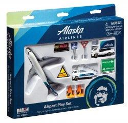 1:400 Realtoy Alaska Airlines Boeing B 737 Playset