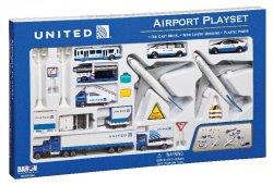 1:400 Realtoy United Airlines Boeing B 747 Playset