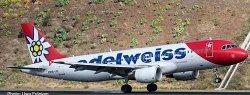 1:200 Herpa Edelweiss Air Airbus Industries A320-200 HB-IJU