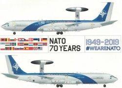 1:200 Inflight200 NATO Boeing B 707-300 LX-N90450