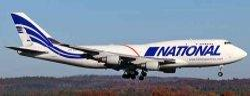 1:400 JC Wings National Airlines Boeing B 747-400 N756CA