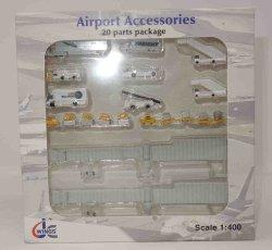 1:400 JC Wings Airport Accessories NA Ground Service Equipment Set NA