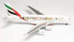 1:200 Herpa Emirates Airbus Industries A380-800 A6-EVB
