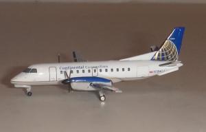 1:400 Gemini Jets Continental Connection / Colgan Air Saab 340 N184CJ