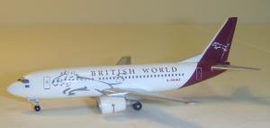 1:400 Herpa British World Airlines Boeing B 737-300 G-OBWZ