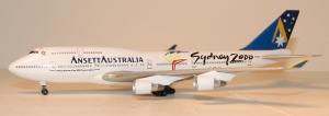 1:400 Dragon Wings Ansett Australia Boeing B 747-400 VH-ANA NA