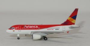 1:500 Herpa Avianca Colombia Airbus Industries A318-100 N595EL
