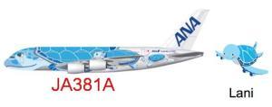 1:200 Phoenix Models ANA All Nippon Airways Airbus Industries A380-800 JA381A