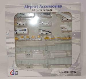 1:400 JC Wings Airport Accessories NA Ground Service Equipment Set NA JCGSESETA