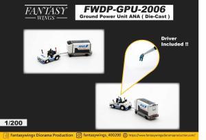 1:200 Fantasywings ANA All Nippon Airways NA Ground Power Unit NA FWDP-GPU-2006